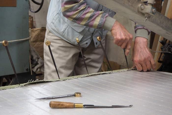 クラフトを支える畳屋さん「手縫いにこだわって」