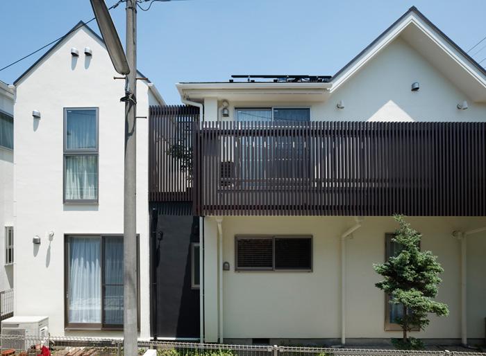 ツーバイフォーを増築した二世帯住宅