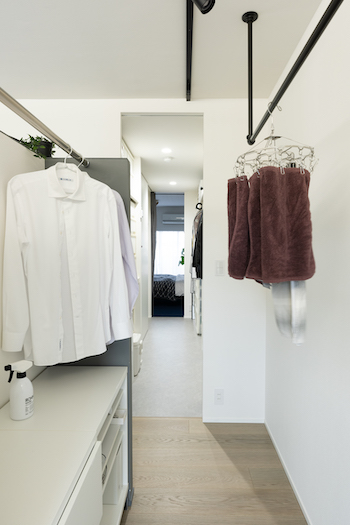 室内干しを間取りの工夫で快適に。花粉や梅雨の季節も安心